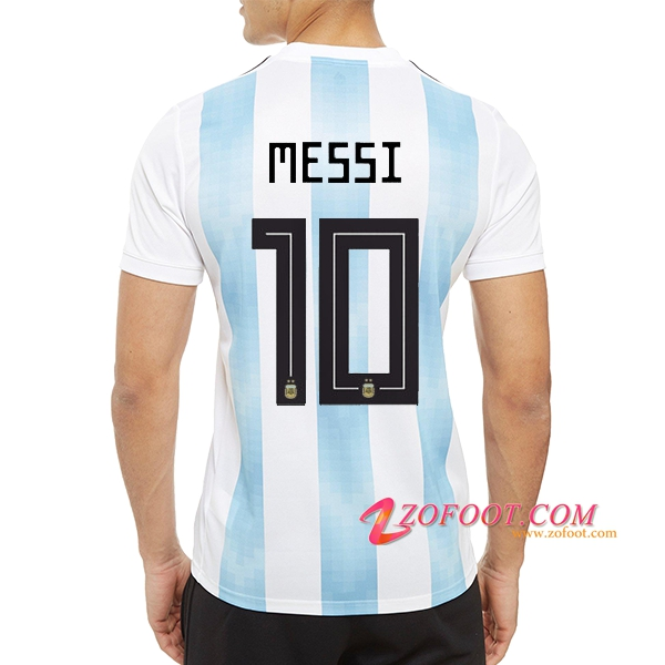 Maillot Equipe Foot de Argentine (Messi 10) 2018/2019 Domicile