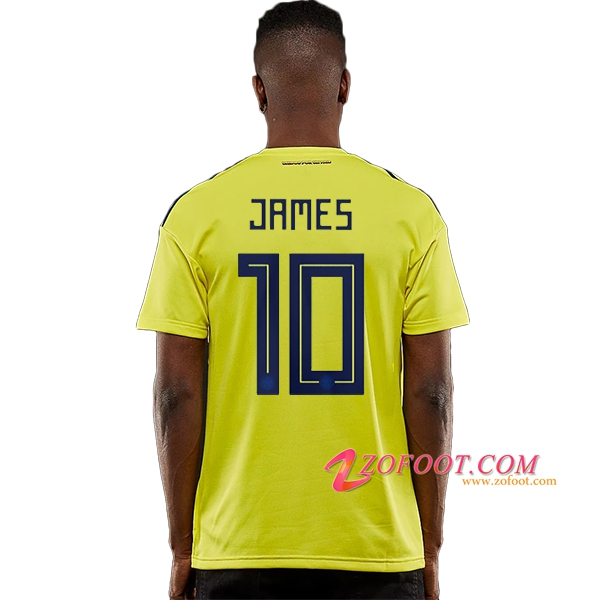 Maillot Football Colombie Coupe de Monde 2018 (JAMES 10) Domicile