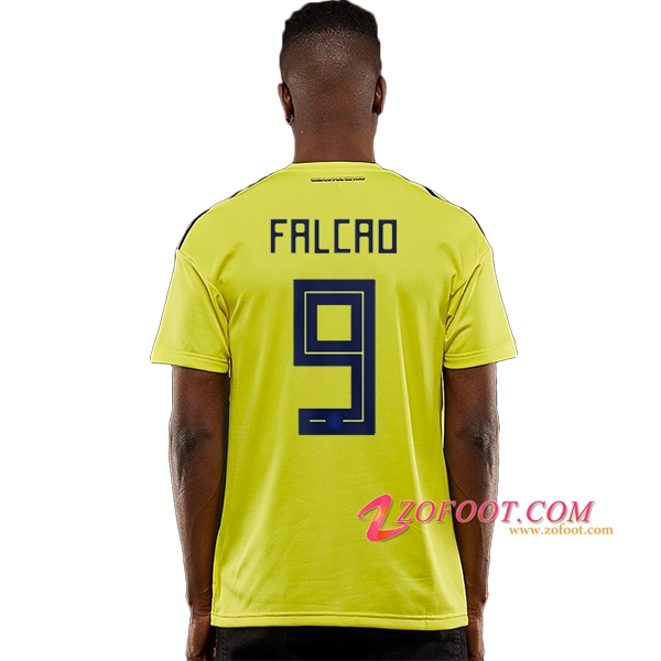 Maillot Football Colombie Coupe de Monde 2018 (Falcao 9) Domicile