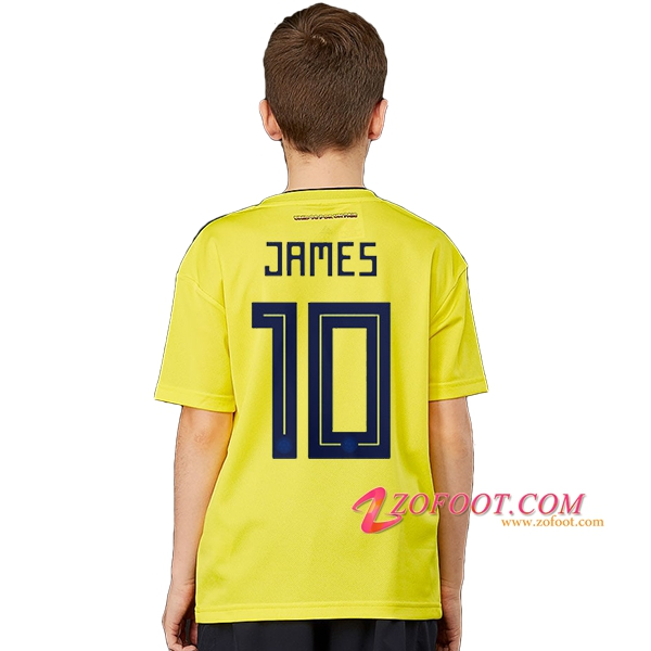 Maillot Football Colombie Coupe de Monde 2018 Enfant (JAMES 10) Domicile
