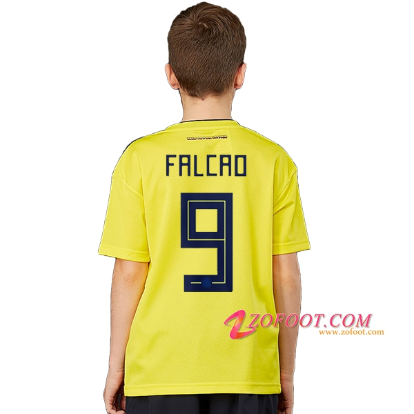Maillot Football Colombie Coupe de Monde 2018 Enfant (Falcao 9) Domicile