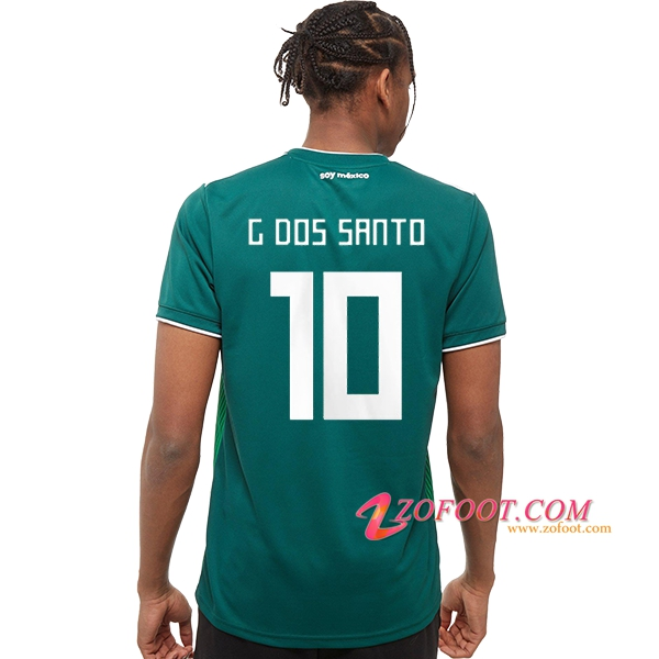 Maillot Football Mexique Coupe de Monde 2018 (G. dos Santos 10) Domicile