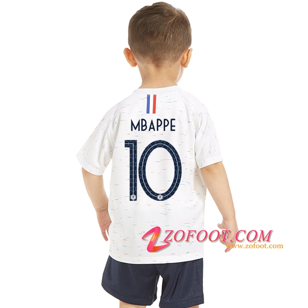 Maillot Football France Enfant Coupe de Monde 2018 (Mbappe 10) Exterieur