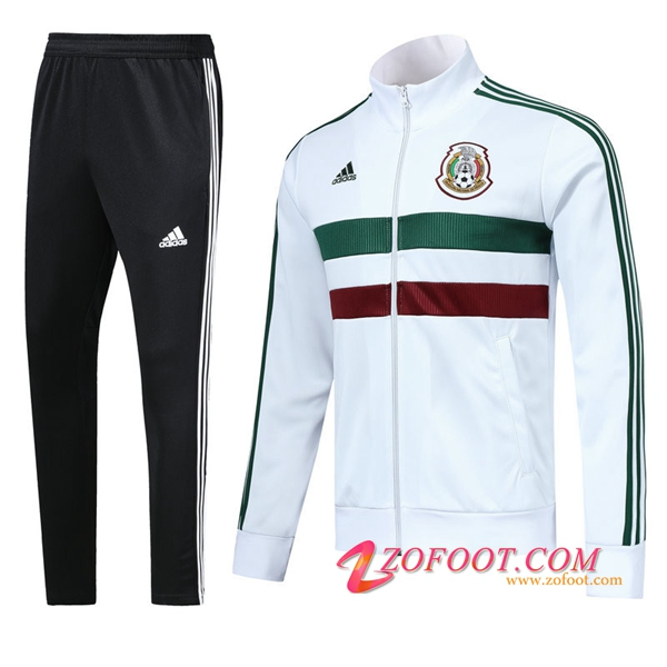 Survetement de Foot - Veste Mexique Blanc 2018/2019