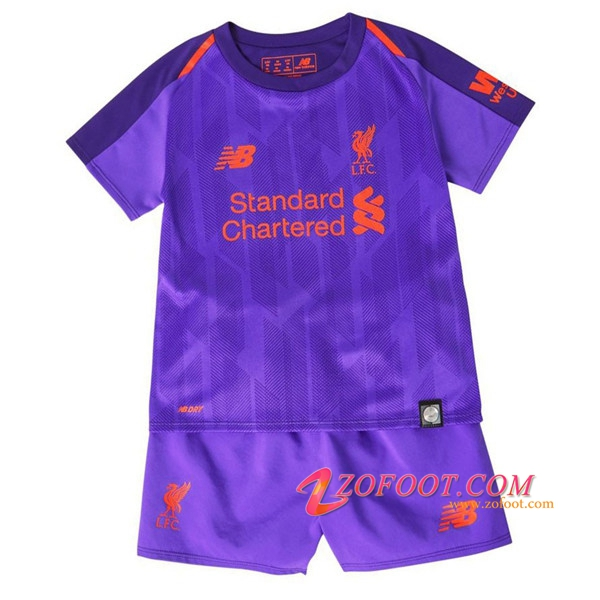 Ensemble Maillot + Short FC Liverpool Enfants Exterieur 2018/2019