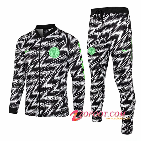 Survetement de Foot - Veste Nigeria Noir/Blanc 2018/2019