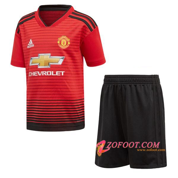Ensemble Maillot + Short Manchester United Enfants Domicile 2018/2019