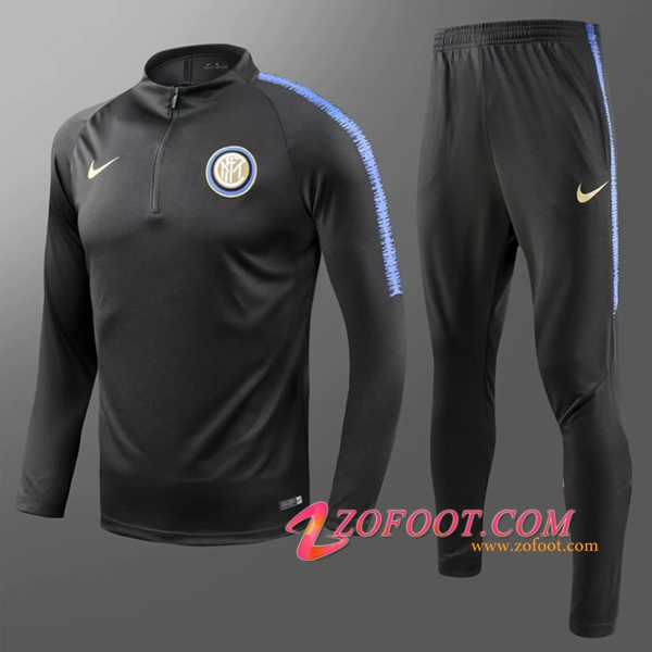 Survetement de Foot Inter Milan Enfant Noir 2018/2019