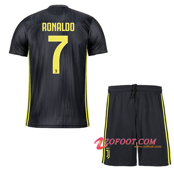 Ensemble Maillot + Short Juventus (RONALDO 7) Enfant Third 2018/19