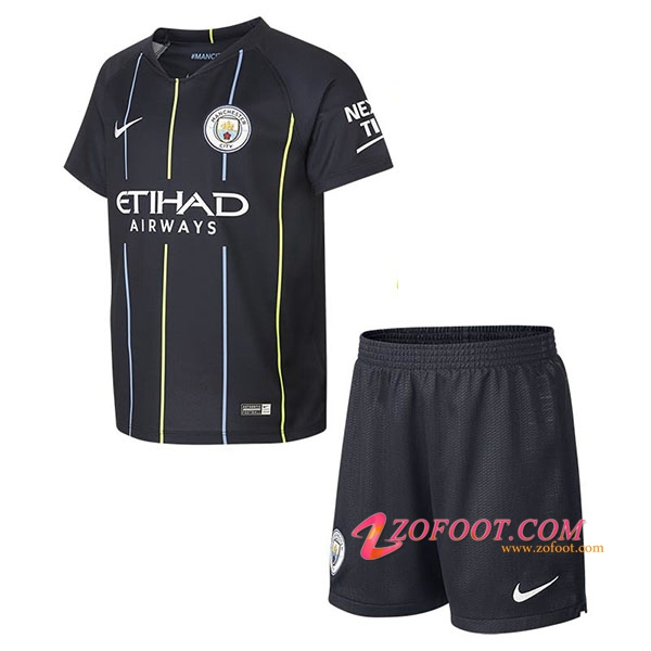 Ensemble Maillot + Short Manchester City Enfant Exterieur 2018/19