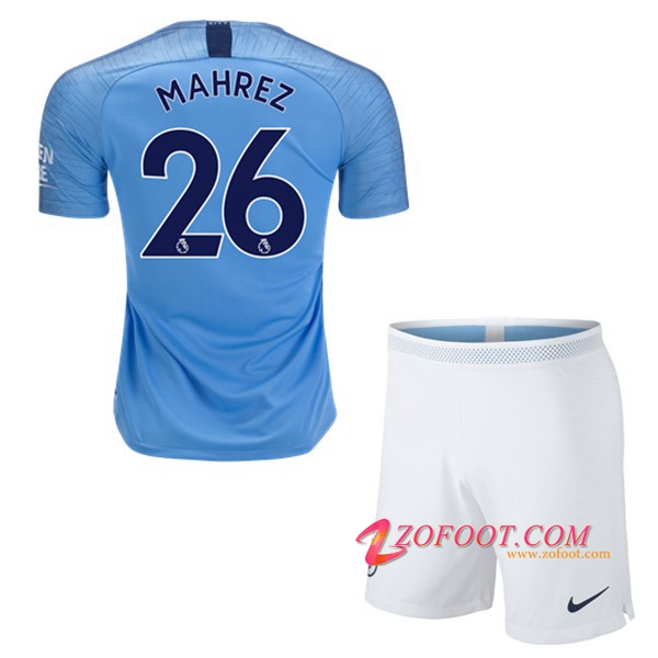 Ensemble Maillot + Short Manchester City (26 MAHREZ) Enfant Domicile 2018/19