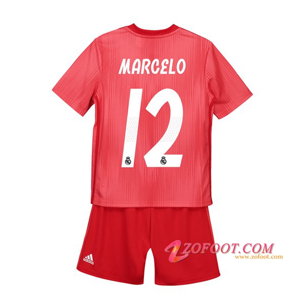 Ensemble Maillot + Short Real Madrid (12 MARCELO) Enfant Third 2018/19