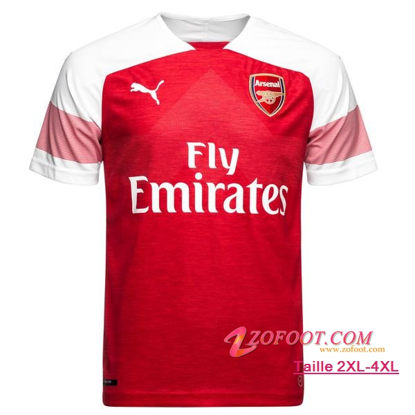 Maillot Foot Arsenal Domicile 2018/2019 (Grande Taille 2XL-4XL)