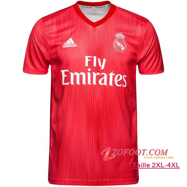 Maillot Foot Real Madrid Third 2018/2019 (Grande Taille 2XL-4XL)