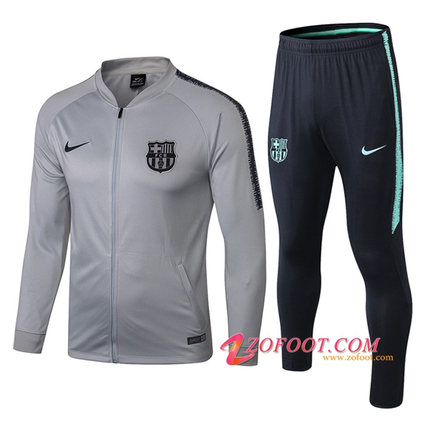 Survetement de Foot - Veste FC Barcelone Gris 2018/2019