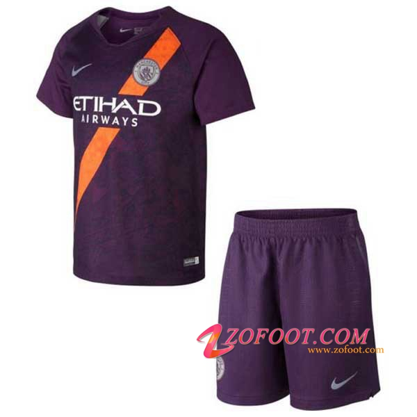 Ensemble Maillot + Short Manchester City Enfants Third 2018/2019
