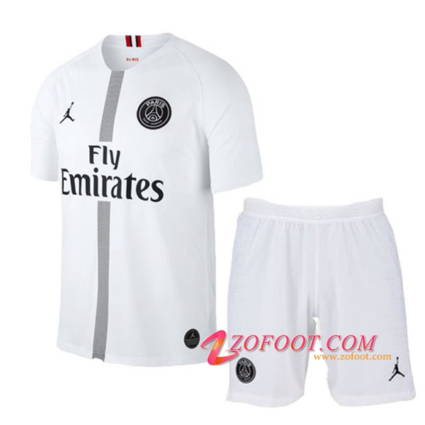 Ensemble Maillot + Short PSG Enfants Blanc Third 2018/2019