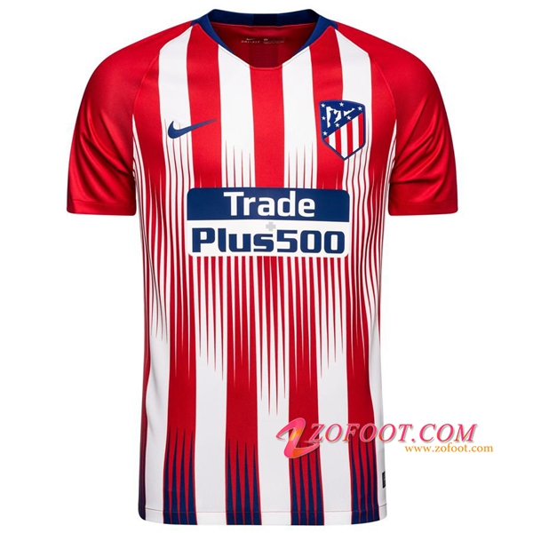 Maillot Foot Atletico Madrid Domicile 2018/2019 (Grande Taille 2XL-4XL)