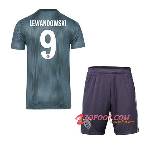 Ensemble Maillot + Short Bayern Munich (9 LEWANDOWSKI) Enfants Exterieur 2018/19