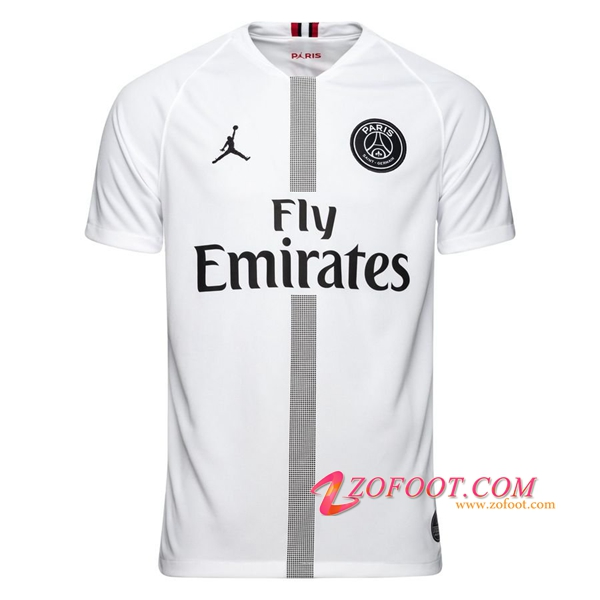 closer at cheapest price official supplier Site Fiable | Nouveau Maillot Foot Jordan PSG Blanc 2018 2019