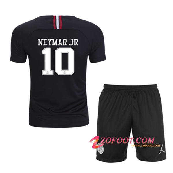 Ensemble Maillot + Short PSG (NEYMAR JR 10) Enfants Noir Third 2018/19