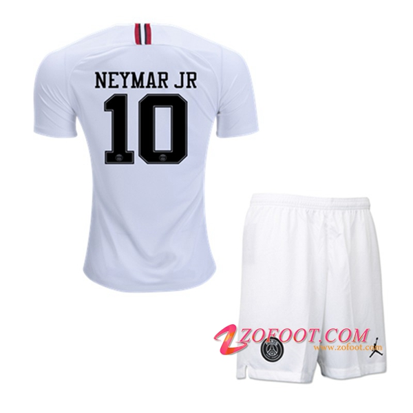Ensemble Maillot + Short PSG (NEYMAR JR 10) Enfants Blanc Third 2018/19