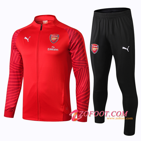 Survetement de Foot - Veste Arsenal Rouge 2018/2019
