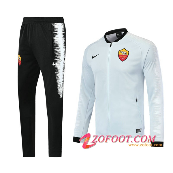 Survetement de Foot - Veste AS Rome Blanc 2018/2019