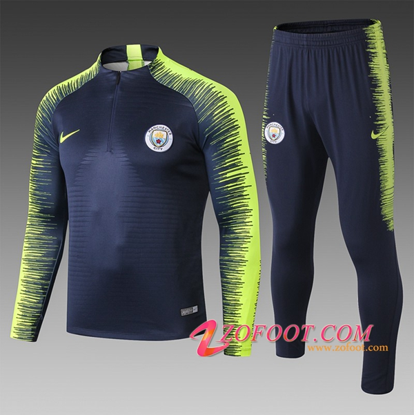 Ensemble Survetement Manchester City Enfant Noir/Vert Strike Drill 2018/2019