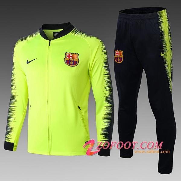 22c66ab4f4 Survetement de Foot - Veste FC Barcelone Enfant Vert/Noir 2018/2019