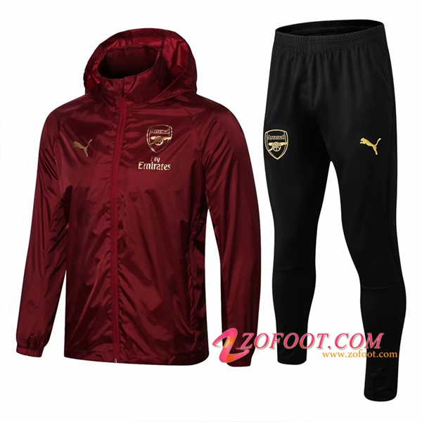 Survetement Veste Coupe Vent Arsenal Rouge 2018/2019
