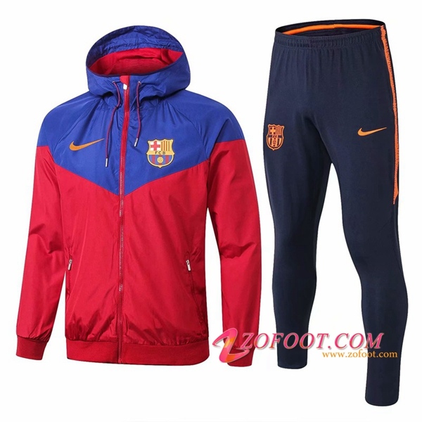 Survetement Veste Coupe Vent FC Barcelone Rouge/Bleu 2018/2019
