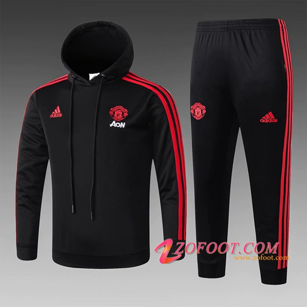 Sweat A Capuche Survetement Manchester United Enfant Noir 2018/2019