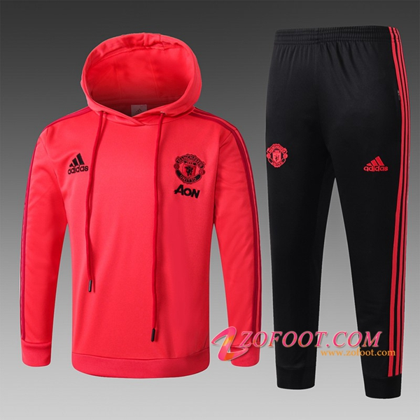 Sweat A Capuche Survetement Manchester United Enfant Rouge 2018/2019