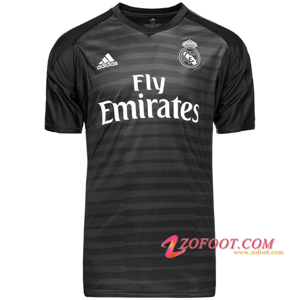 Maillot de Foot Real Madrid Gardien de but Noir 2018/2019