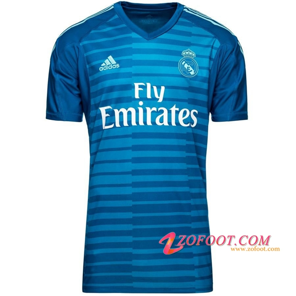 Maillot de Foot Real Madrid Gardien de but Bleu 2018/2019