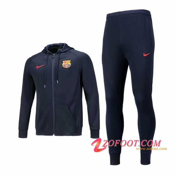 Veste A Capuche Survetement FC Barcelone Noir 2018/2019