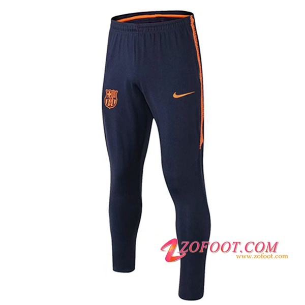 Training Pantalon Foot FC Barcelone Orange/Bleu Fonce 2018/2019
