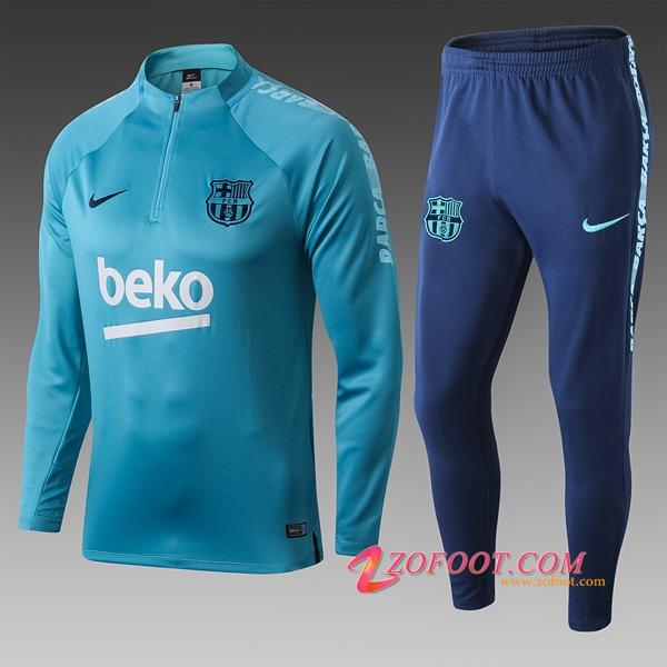 5903961b06 Ensemble Nouveaux Survetement Foot FC Barcelone Enfant Bleu 2019/2020