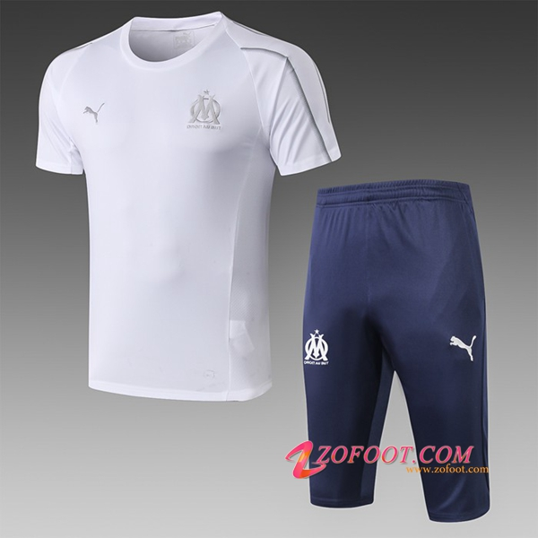 Ensemble PRÉ MATCH Training Marseille OM + Pantalon 3/4 Blanc 2019/2020