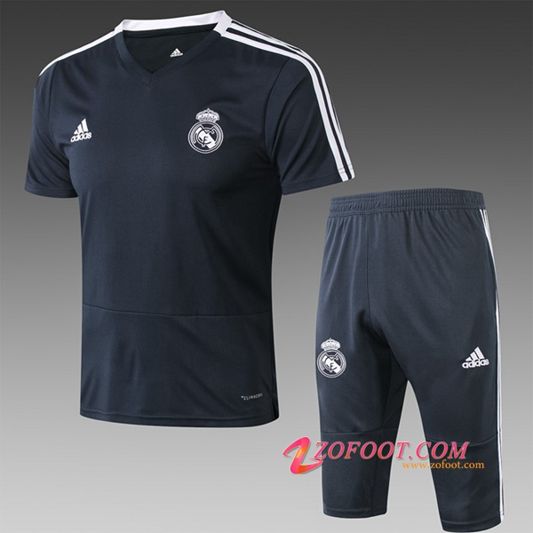 Ensemble PRÉ MATCH Training Real Madrid + Pantalon 3/4 Noir 2019/2020