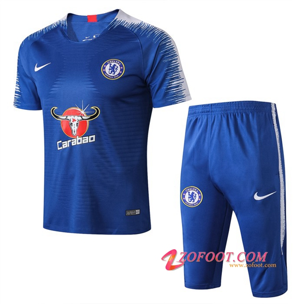 Ensemble PRÉ MATCH Training FC Chelsea + Pantalon 3/4 Bleu 2019/2020