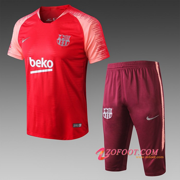Ensemble PRÉ MATCH Training FC Barcelone + Pantalon 3/4 Rouge 2019/2020
