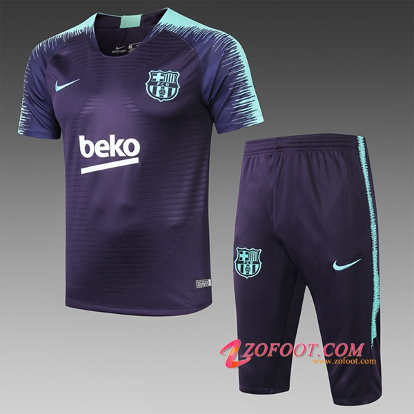 Ensemble PRÉ MATCH Training FC Barcelone + Pantalon 3/4 Bleu Fonce 2019/2020
