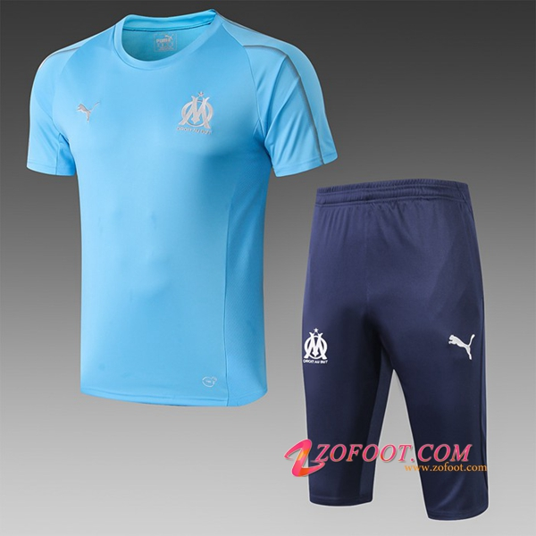 Ensemble PRÉ MATCH Training Marseille OM + Pantalon 3/4 Bleu 2019/2020