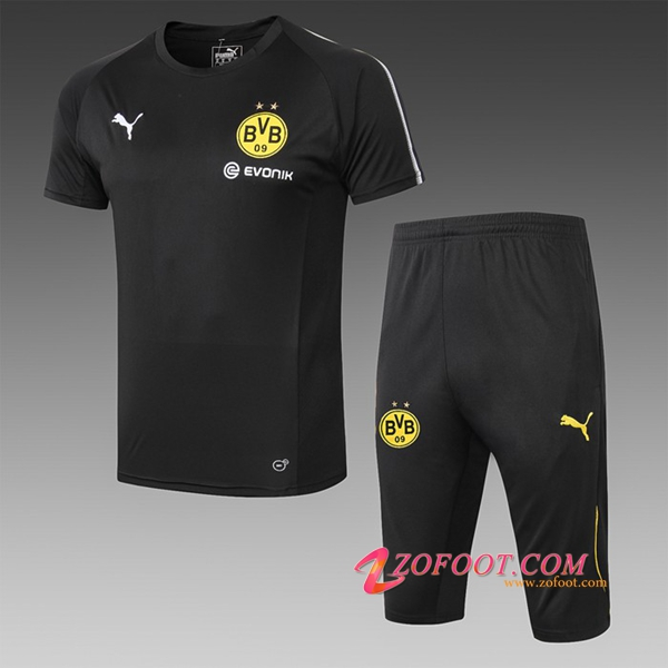 Ensemble PRÉ MATCH Training Dortmund BVB + Pantalon 3/4 Noir 2019/2020