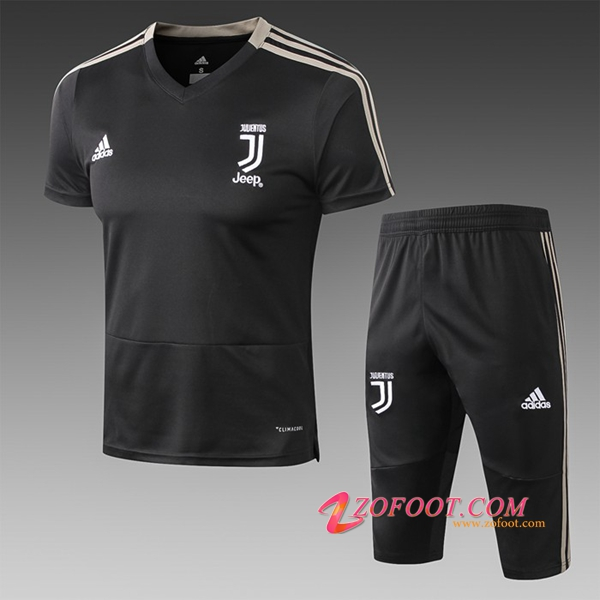 Ensemble PRÉ MATCH Training Juventus + Pantalon 3/4 Noir 2019/2020