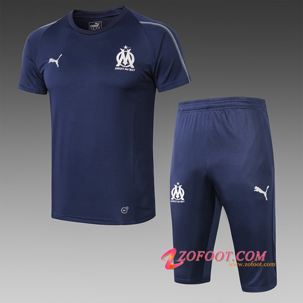 Ensemble PRÉ MATCH Training Marseille OM + Pantalon 3/4 Bleu Fonce 2019/2020