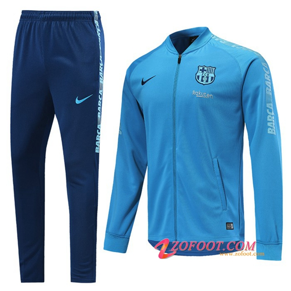 Ensemble Survetement Foot - Veste FC Barcelone Bleu 2019/2020