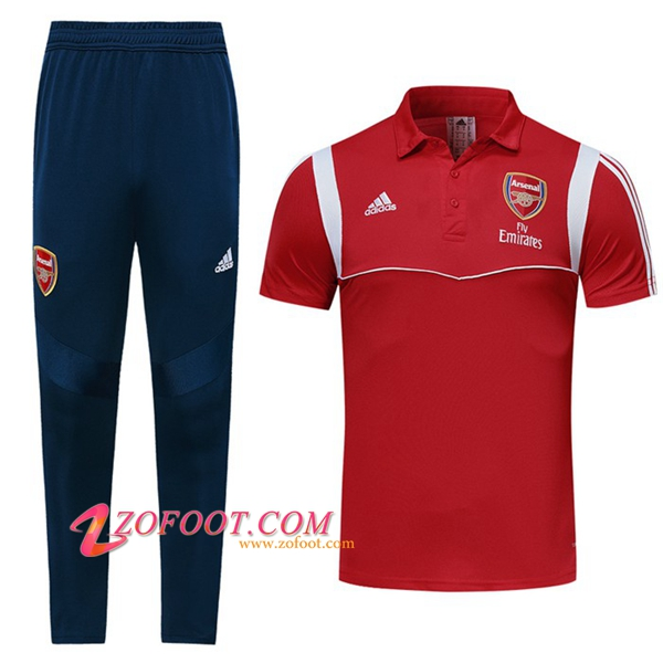 Ensemble Polo Arsenal + Pantalon Rouge/Blanc 2019/2020